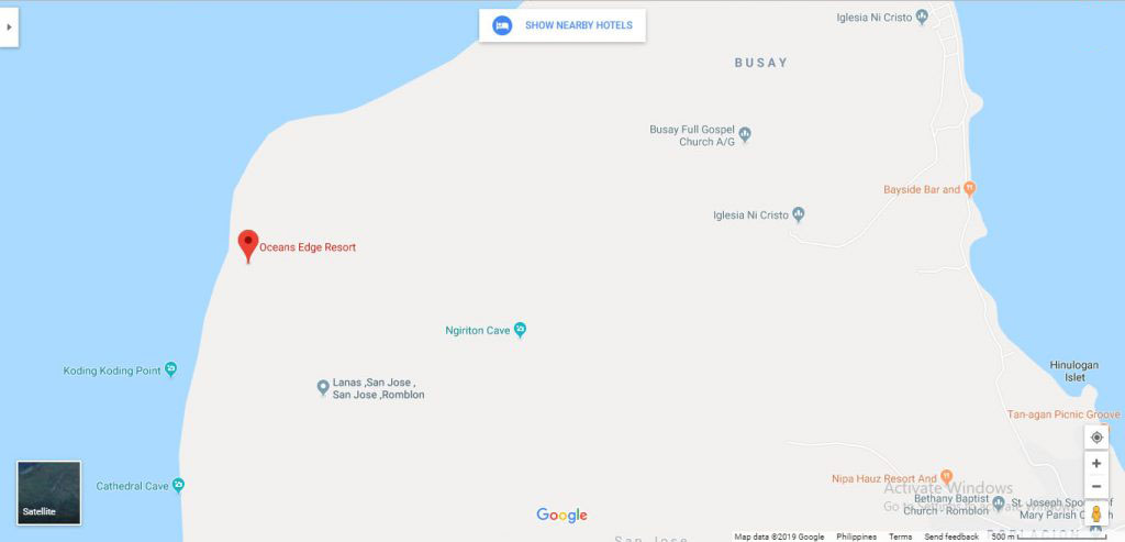Carabao Island Resort Location Map